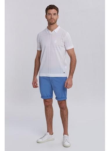 Hemington Kırık Nakış Detaylı Triko Polo Beyaz